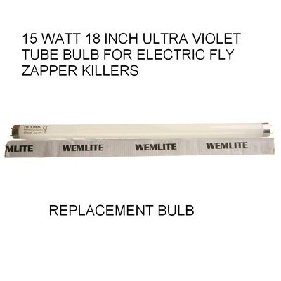 15 Watt Ultra Violet Fluorescent Electric Fly zapper bulb » £3.99 - DIY Pest Control Products