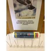 3 Metres Bird Defender Spikes for narrow ledges with silicon fixing adhesive